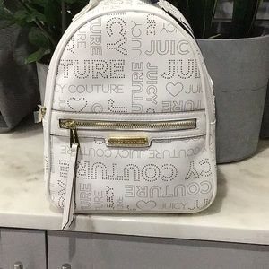 JUICY COUTURE White Promenade Backpack